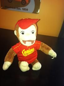 Curious George - Stuff Doll- Free Shipping     Price: $2.00
