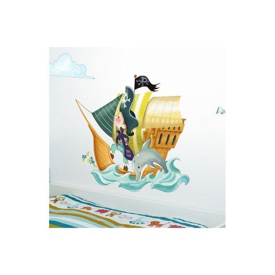 Sticker Bateau de pirates Emmanuelle Colin
