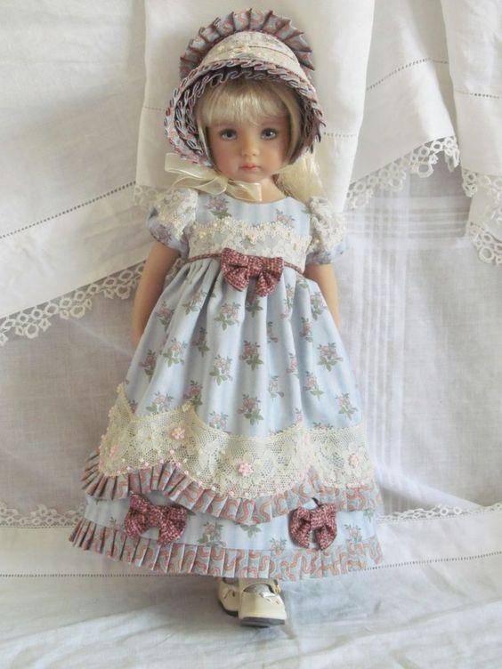 "13"" Effner Little Darling BJD fashion blue Regency set OOAK handmade by JEC in | eBay SUPERBE:"