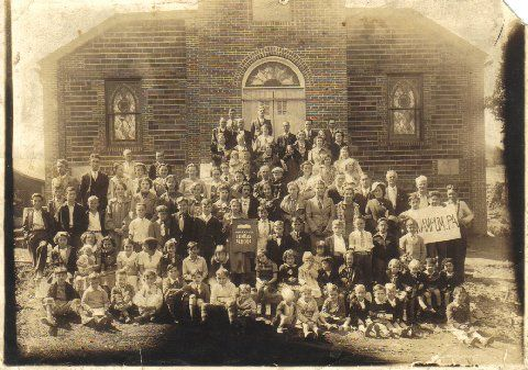 Wampum Pentecostal Church-This is the first Sunday School class after the church was built in 1937.