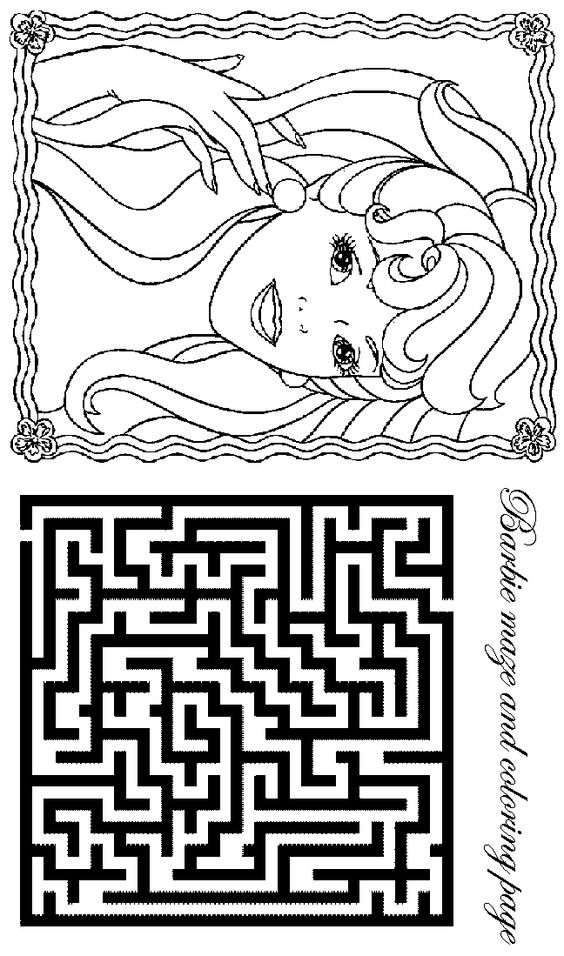 barbie coloring pages  activity sheets