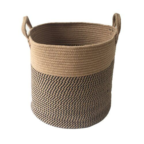 Rope Woven Laundry Basket Bay Isle Home Colour Brown Size