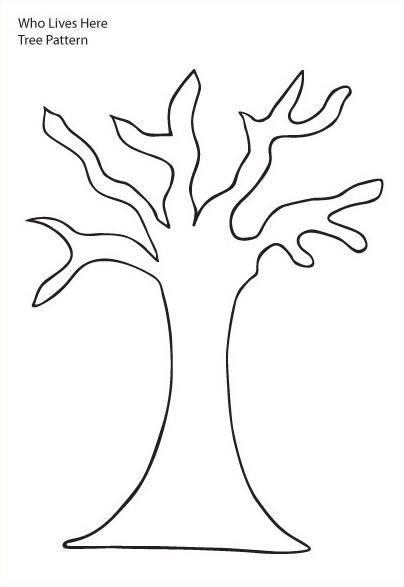 tree trunk clipart | Tree Pattern - Tree with six branches and trunk without leaves on ...