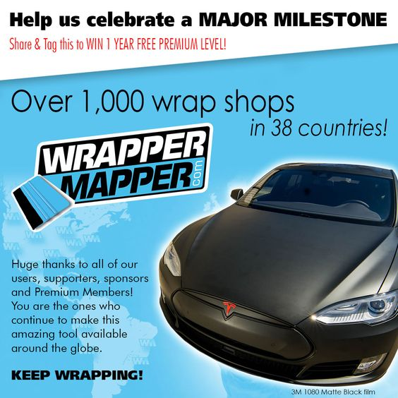 Huge milestone reached with over 1,000 wrap shops on WrapperMapper.com!