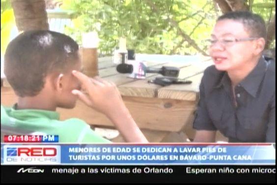 Los Menores De Edad Se Dedican A Lavarle Los Pies A Los Turistas Por Unos Cuantos Dólares En La Playa De Bávaro – Punta Cana