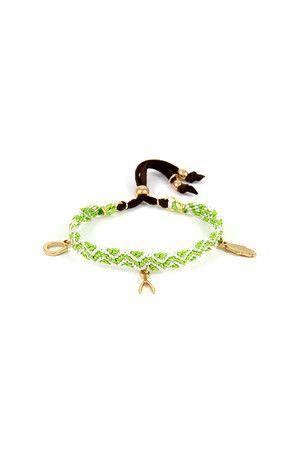 Trio Charm Bracelet in Multicolor Green
