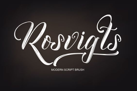 Rosvigts Brush Script font @creativework247