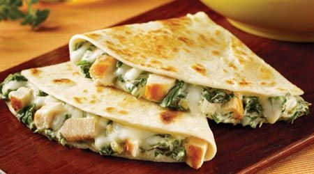 Chicken, Spinach and Artichoke Quesadillas