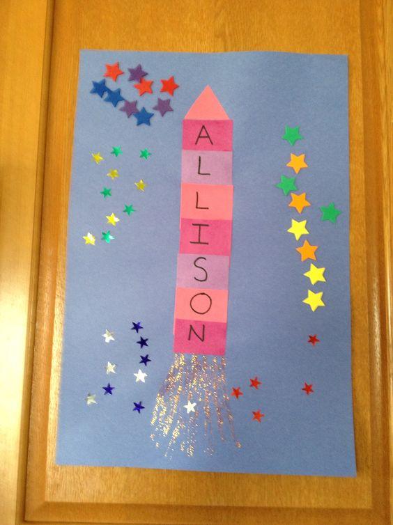 Name rocket craft - Preschool Craft - Space Craft - Kids Craft ...