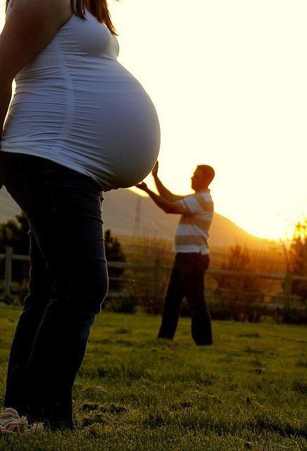 Idea para foto del embarazo.