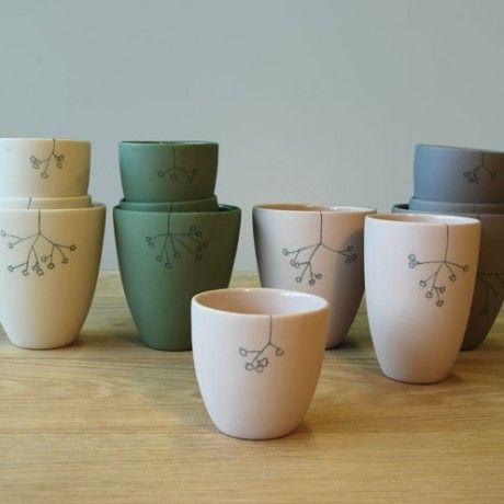 matte porcelain cup - elke van den berg