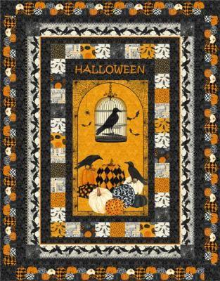 Halloween Quilts, Patterns 2020 Raven's Halloween Quilt Pattern HHQ 7457 in 2020 | Halloween quilt