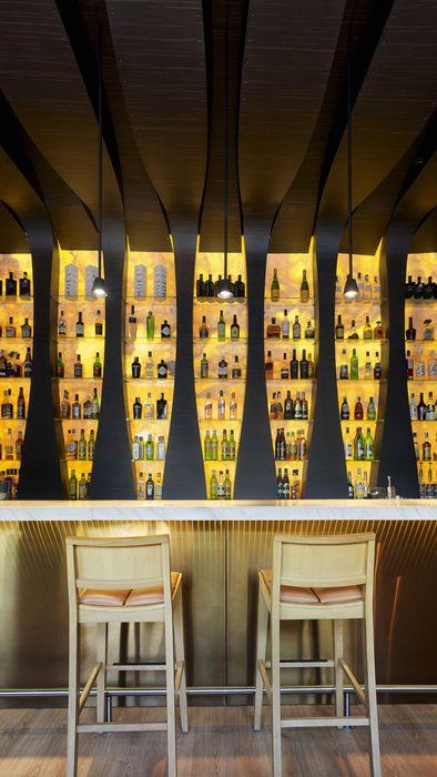 Nero bar spain designed by idea interior counter