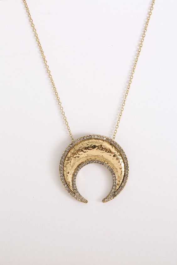 House of Harlow Gold Gift of Iah Horn Pendant Necklace | South Moon Under