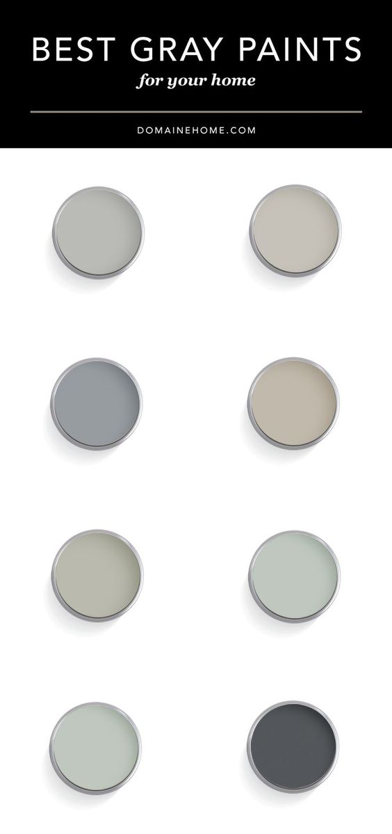 Top Designers Share Their Favorite Gray Paint Colors: different colours of grey paint