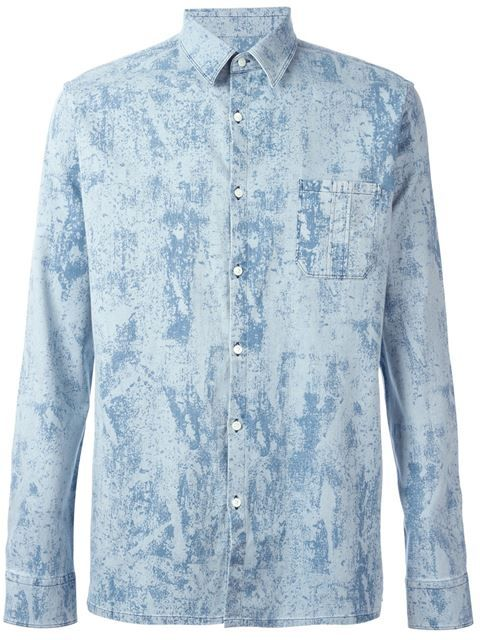 Shop Fendi faded denim effect shirt in Biffi from the world's best independent boutiques at farfetch.com. Over 1000 designers from 300 boutiques in one website.