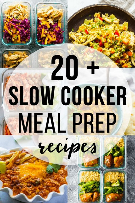 20 + Slow Cooker Recipes That are Perfect for Meal Prep | SweetPeasAndSaffron.com