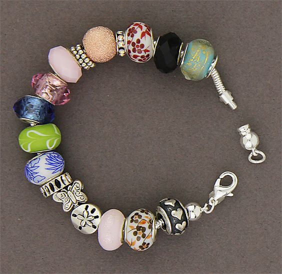 Simply Whispers Jewelry Bracelet Silver Threaded End and18 Beads