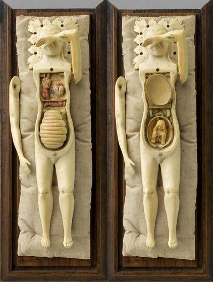 "pollygannon: sealmaiden: Anatomical mannequin called ""Motherhood"" Ivory, 17th century"