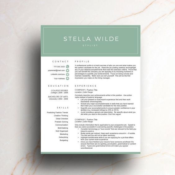Green, Creative and Icons on Pinterest - how to make a cover page for a resume