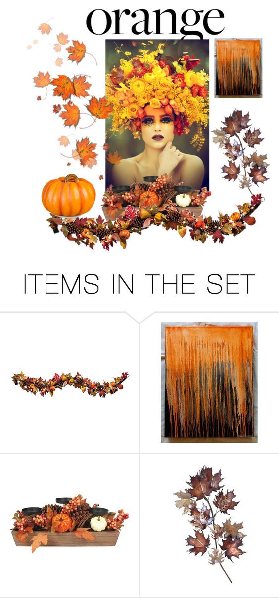 """""""orange"""" by perfex ❤ liked on Polyvore featuring art, orangeandblack and colorchallenge"""