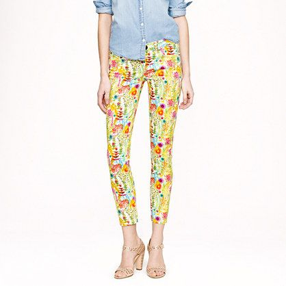 Liberty toothpick jean in Tresco floral: