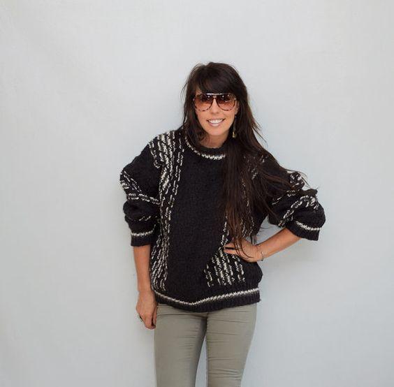 vintage sweater / wool knit cowichan camp fire by FiregypsyVintage, $38.75