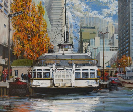 Anthony Batten, The Trillium at the Foot of Yonge Street, 40x48 acrylic on canvas, Toronto, Ontario (from Arabella Canadian Landscape Competition)
