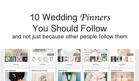 planning wedding pinners follow pinterest