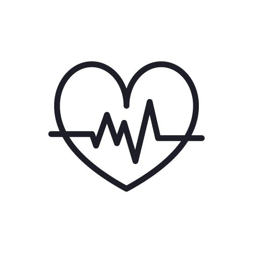Heart Icon With Sign Heart Beat With Heart Rate Free Icon Heart Icons Free Icons Icon