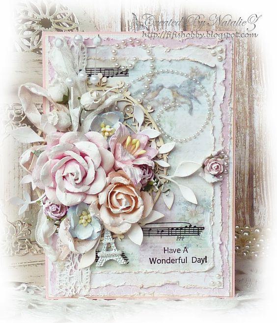 My Creativity Life...: Цветочная открытка... Этап №1 для СП Весенние Открытки.: