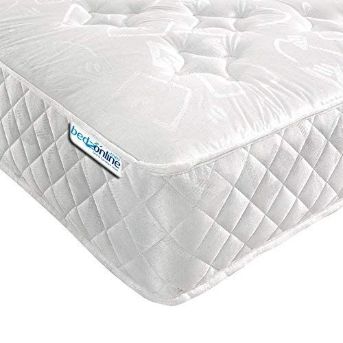 Fabric Cover Memory Foam Sprung Spring Mattress Single Double Bedroom Furniture