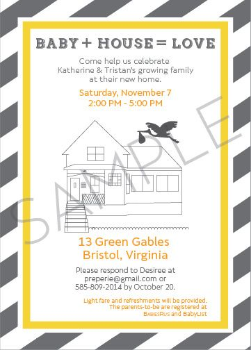Joint housewarming baby shower invitation for Housewarming shower ideas
