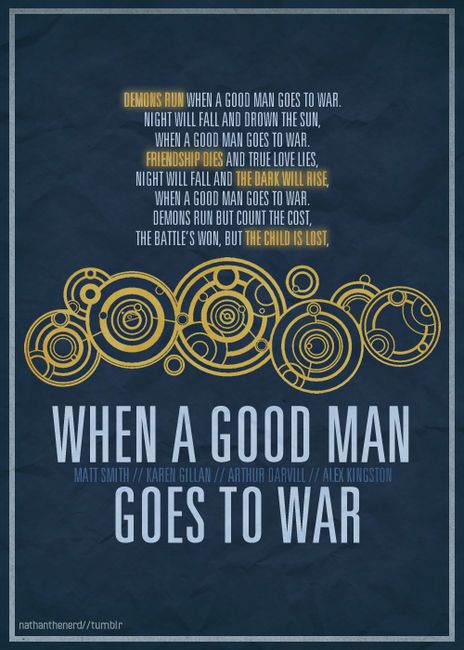 When a good man goes to war...