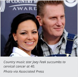 Joey Martin Feek of the husband/wife country duo Joey + Rory has passed away at the age of 40.