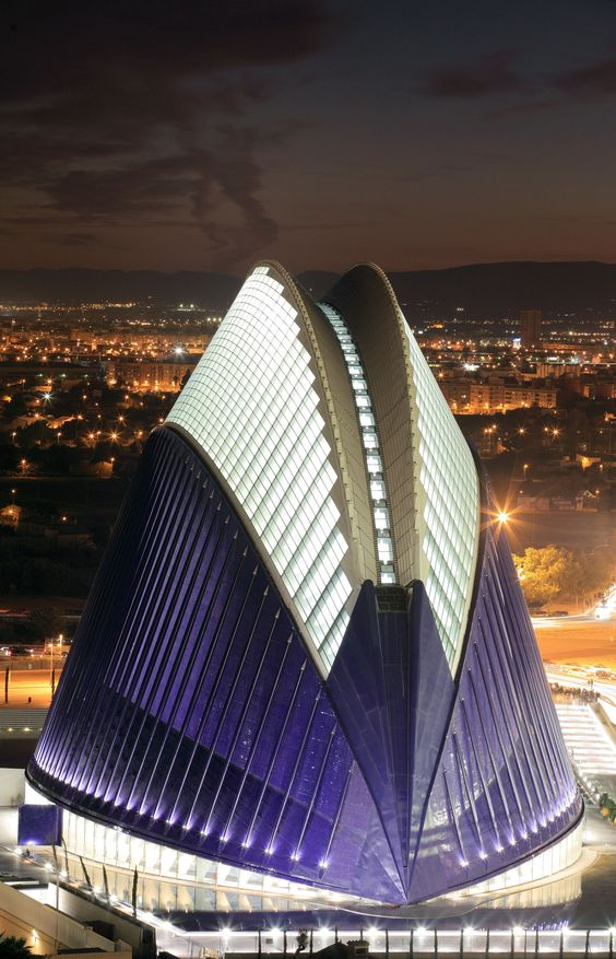 The City of Arts and Sciences (Ciudad de las Artes y las Ciencias) in Valencia, Spain, is a unique complex devoted to scientific and cultural dissemination, including an interactive science museum, aquarium, planetarium, IMAX cinema and performing arts center. (The exhibits within are equally mesmerizing.)