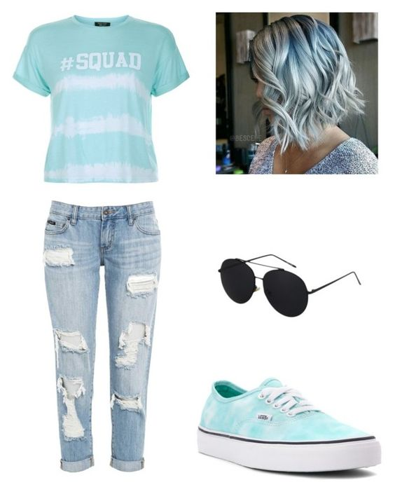 """""""Bored"""" by najahp ❤ liked on Polyvore featuring New Look and Vans"""