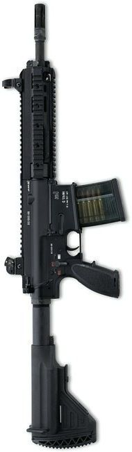 "Heckler and Koch HK417 with 12"" barrel chambered for 7.62x51mm NATO"