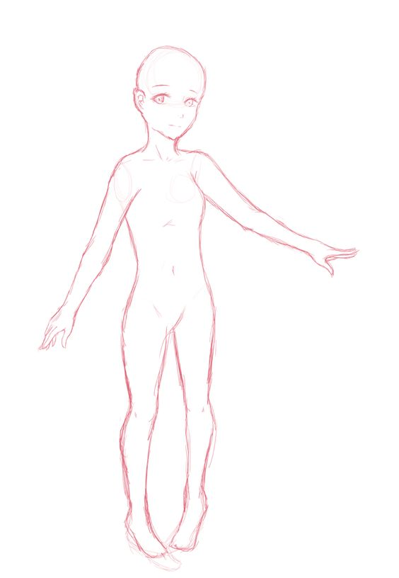 an anatomy sketch for my personal OC. - 160403