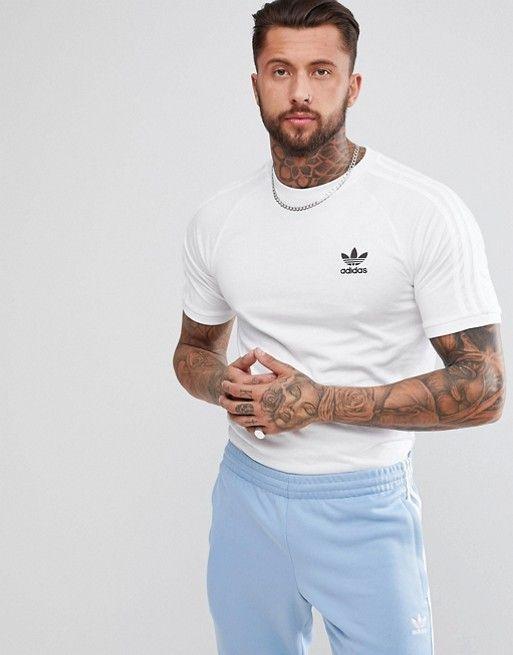 preocupación dialecto manguera  adidas Originals adicolor California T-Shirt In White CW1203   Mens  tshirts, Mens shirts, Mens outfits