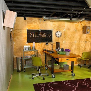 perk up with plywood for a fun and affordable basement wall finish