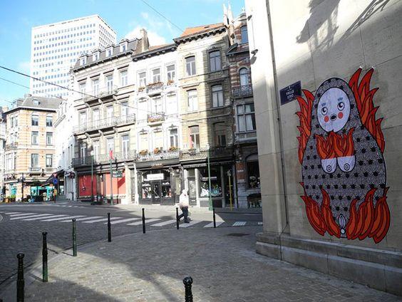 Matriochka street art_Sara Conti