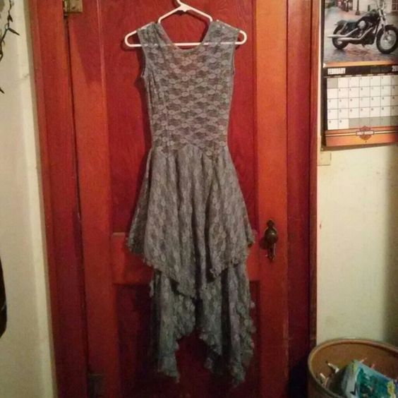 ACEVOG women's Mini Slim Lace Floral Dress 100% brand new, never been worn, medium, gray, lacy, ACEVOG Dresses Mini