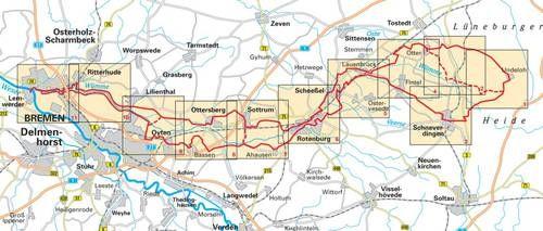 Wumme Radweg Routenverlauf Fahrradtour Radtour Radweg