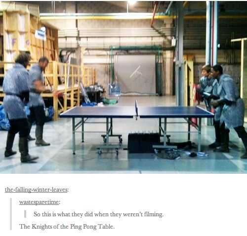 Knights of the Ping Pong Table // We play whene'er we're able...