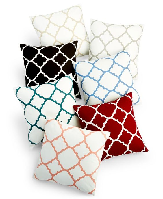 """Charter Club Damask Designs Geometric 18"""" Square Decorative Pillow, Only at Macy's"""