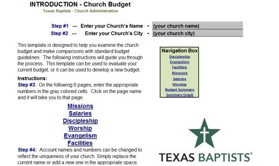 Church Budget Template 30 Templates Useful For Small And Big