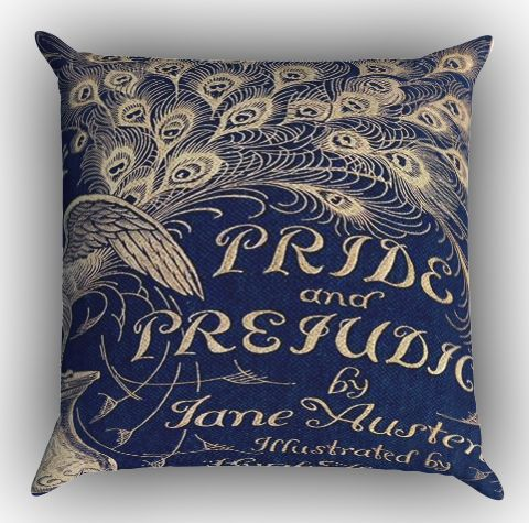 Cover Book Jane Austen Z0111 Zippered Pillows Covers 16x16, 18x18, 20x20 Inches