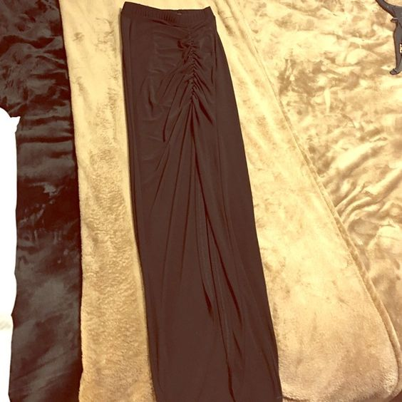 Black Long skirt Fancy looking long skirt. Looks great with any outfit.  Send me an offer if interested Skirts