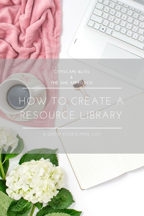 How to create a resource library and grow your e-mail list - create a sign in sheet